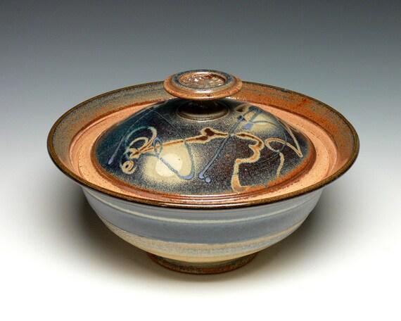 Ceramic Stoneware Baking : Large covered bowl pottery casserole stoneware baking dish