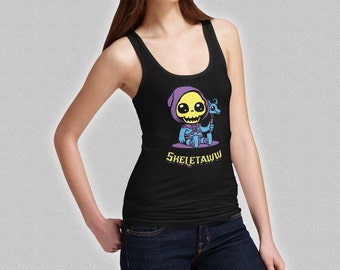 Skeletor Cute Tank Top - Skeletaww Ladies T-Shirt - Baby Skeleton He-Man - MOTU