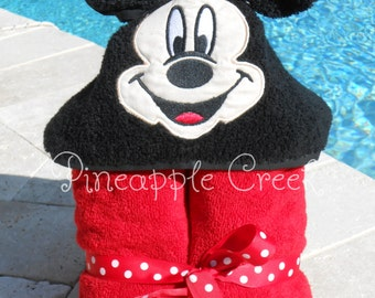 Mickey Mouse Hooded Towel MONOGRAM INCLUDED