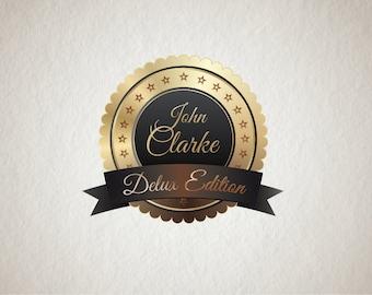 Delux Logo - Photography Logo Design - Text Logo - Retro Logo - Stamp Logo