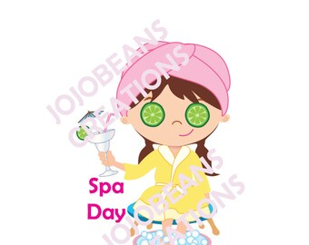 Spa Day Stickers