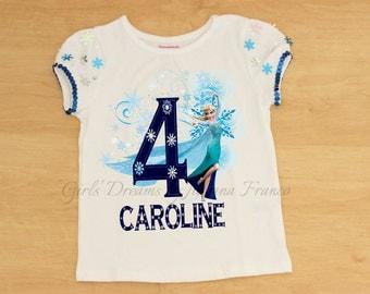 Elsa Personalized shirt, Elsa T-shirt, Elsa Outfit, Frozen Birthday Outfit, Elsa Birthday Outfit, Girls Elsa Shirt, Queen Elsa Shirt, Frozen