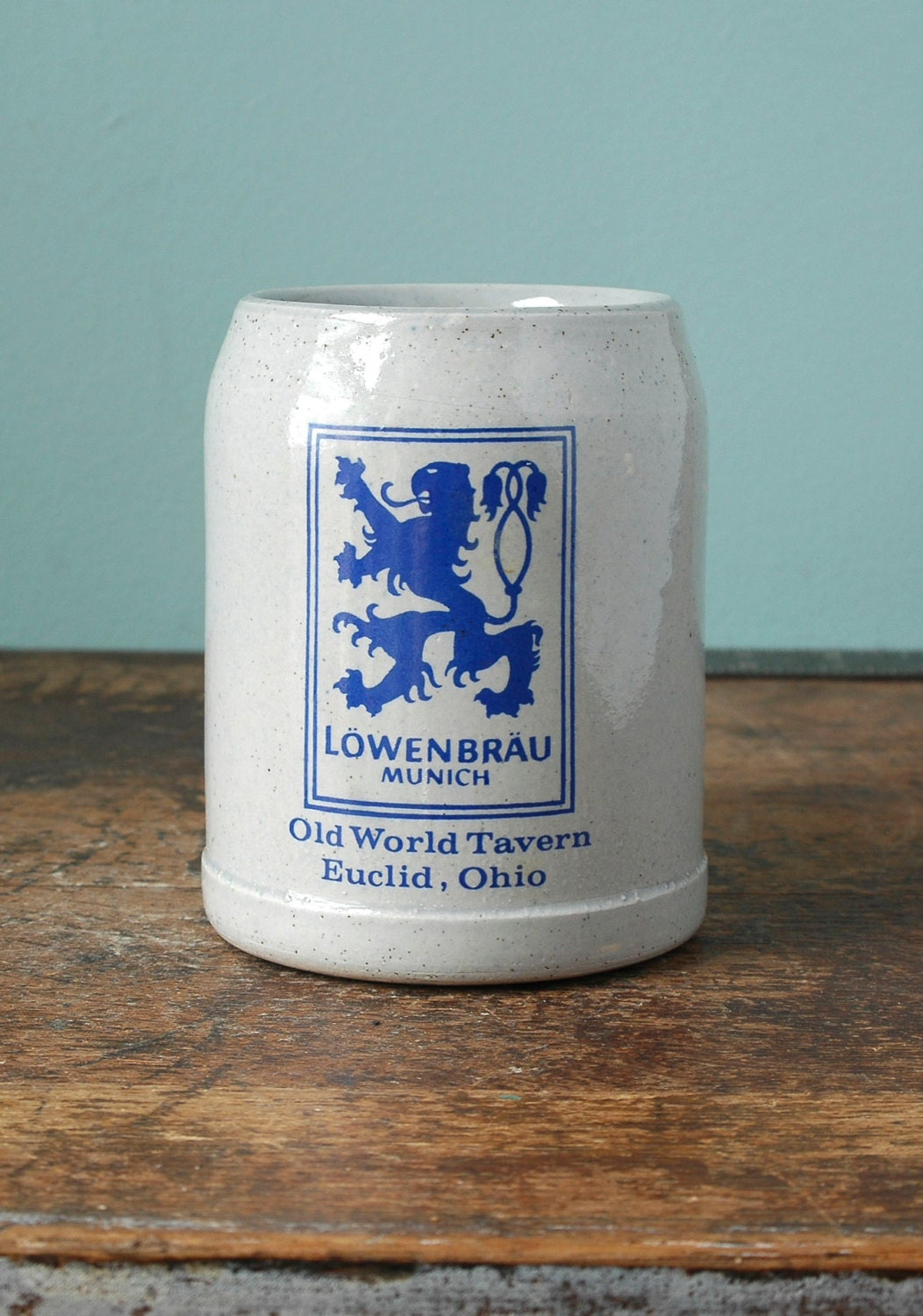 Beer Stein Lowenbrau Munich Old World Tavern Made In Germany