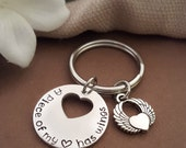 A Piece Of My Heart Has Wings ™ | Memorial Key Chain | Sympathy Gift