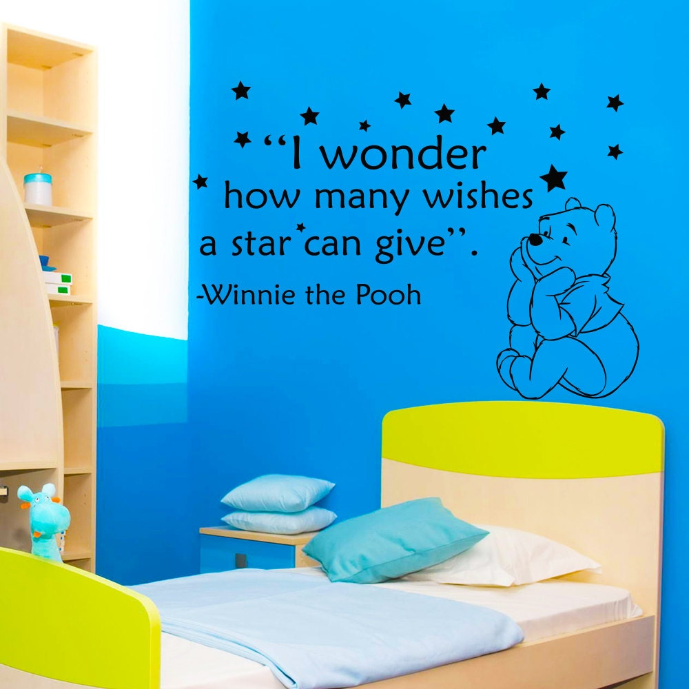 Winnie The Pooh Wall Quotes: Winnie The Pooh Wall Decals Children Quote I Wonder How Many
