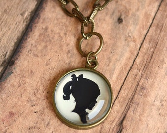 Custom Silhouette Necklace | One Pendant