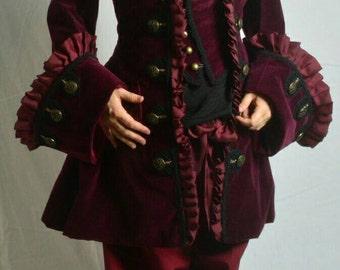 Dashing Marauder Pirate Coat - Wench Frock Coat Custom