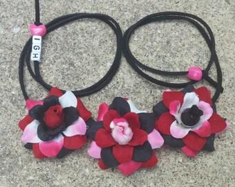 Midnight Hello Kitty Flower Halo/ Flower Headband/ Crown/ Halo