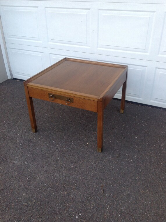 Vintage Oversized End Table Mid Century Coffee By Evokative1