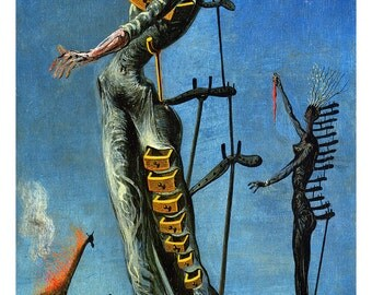 The Burning Giraffe Poster by Salvador Dali, Abstract, Surrealism
