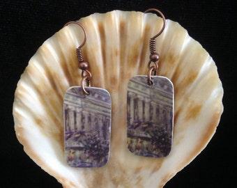 Hotel Room Key Card Earrings/Upcycled Repurposed Recycled Earrings
