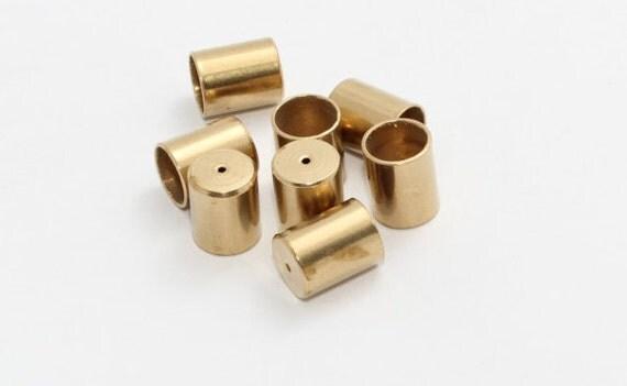 Pcs inner mm raw brass end cap solid bead caps