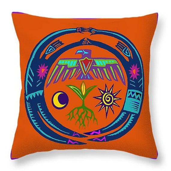 Throw Pillows Next : Native American Shaman Tribal Throw Pillow - 5 sizes available