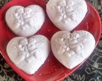 Bath Bombs X 4 - Cupid Hearts