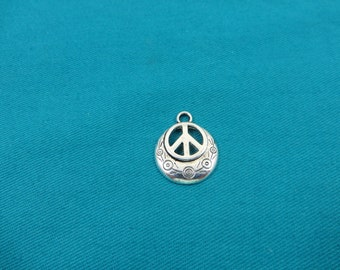 Peace Charms Antique Silver Tone 1978-B10698 Symbol charms 5