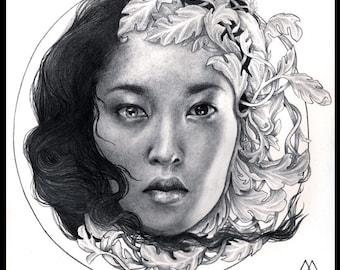 Original drawing - 20 x 20 cm - Graphite