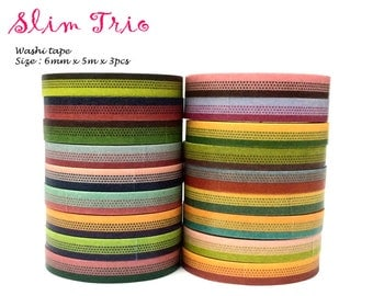 Pattern 3pc Set Washi Tape (5m x 3)