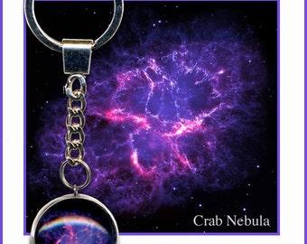 Crab Nebula Keyring with Small Photo Card