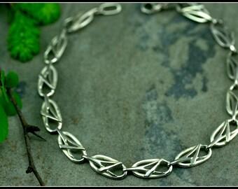 Art nouveau bracelet - women bracelet - silver bracelet - symbolic women jewelry - celtic antique - delicate bracelet
