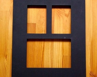 3-opening salvaged chalkboard picture frame