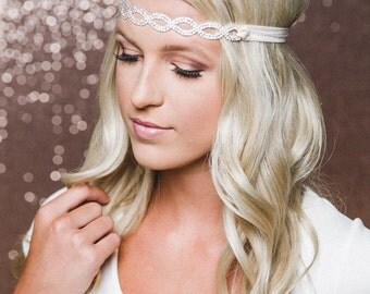 Bridal Hair Piece | Rhinestone Bridal Headband | Bridesmaid Headband | Bridal Headband | Bridal Headpiece | THE CALI