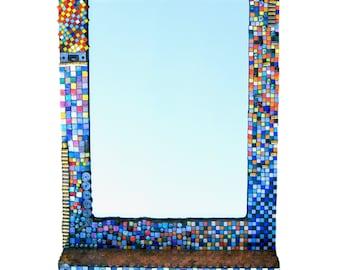 Mosaic art mirror and frame.