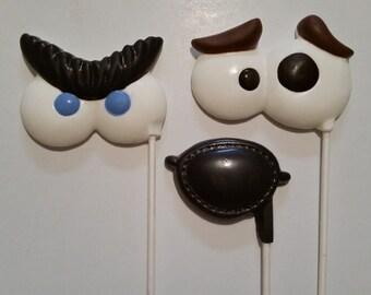 12 Chocolate Googly Eye Lollipops