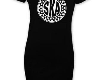 Ska Circle Short Sleeve T-Shirt Dress