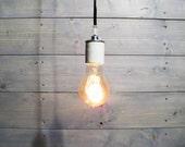 Single Pendant Light Porcelain Socket - Functional Accessory Light Fixture - Industrial Lighting