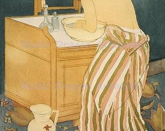 "Mary Cassatt ""Woman Bathing"" 1891  Reproduction Digital Print  Wall Hanging"