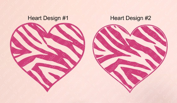 zebra print heart coloring pages - photo #34