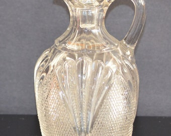 Antique EAPG Pattern Glass Kentucky State Cruet USA Pressed Glass 1800s Victorian Glass Kitchen Home Country Farmhouse Decor