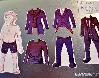12th Doctor (Doctor Who) Magnetic Paper Doll