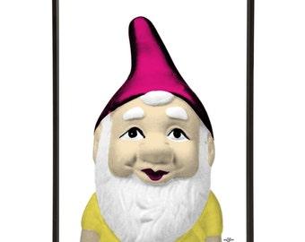 Kitsch Garden Gnome Graphic Pop Art Print Ornament Retro