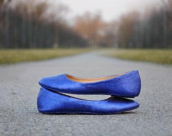 Wedding flats royal blue wedding flats royal blue glitter flats royal blue ballerinas Wedding shoes Low heels flats ballerinas