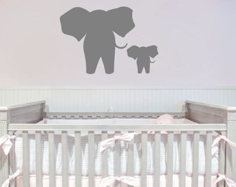 Elephants silhouette - wall decal