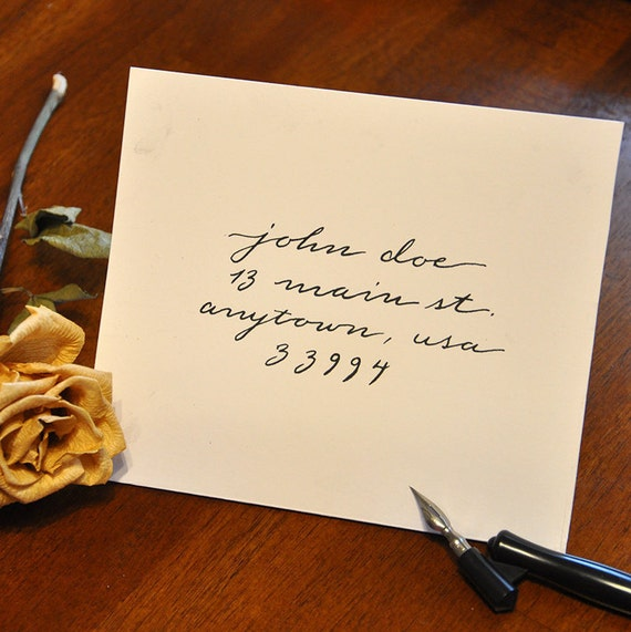 Handwritten Wedding Invitations Envelopes: Handwritten Calligraphy Envelopes Extended Text By Sonygraphix