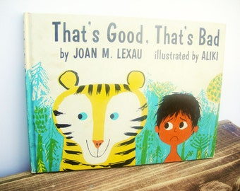 Books for Children, Vintage, That's Good, That's Bad, Children's Toys,1960's