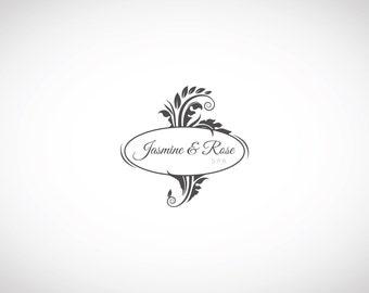 VINTAGE LOGO - Custom Premade Logo, Floral Logo, Custom Business Logo Design, Premade Watermark Logo, Graphic Design