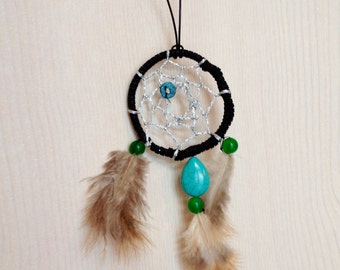 Daydreamcatcher Necklace with Real Jade and Turquoise