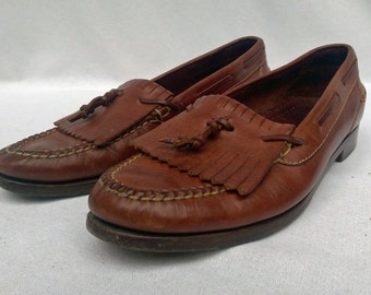 8.5M Cole Haan Brown Tassled Loafers