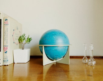 Small Tin Moon Globe with Stand