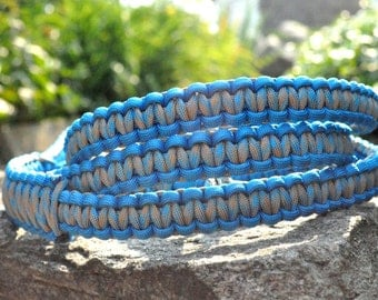 Blue Dodger and Surf & Sand Paracord 6ft Dog Leash