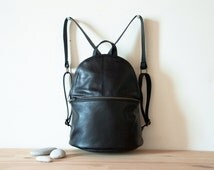 Backpack, Leather Backpack, Black Leather Backpack, Soft Leather Backpack, School Backpack, Travel Backpack