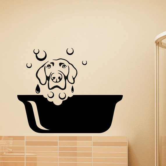 dog wall decal pets grooming salon decals vinyl sticker dog personalised dog house wall sticker by snuggledust studios