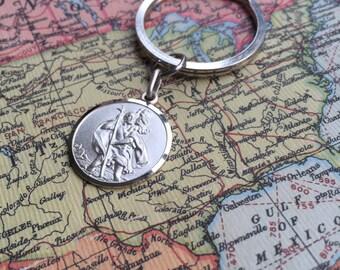 Religious Gift - Keyring - St Christopher Medal - Personalised Gift