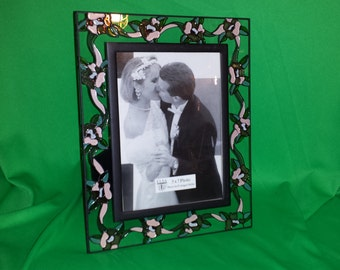 Vintage Elsa Stained Glass Photo Frame