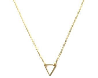 Little Gold Triangle Necklace