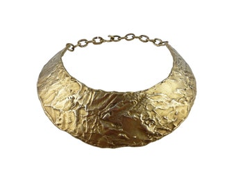 BICHE DE BERE Paris * Gorgeous vintage brutalist collar necklace
