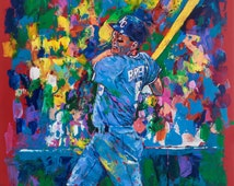 70% SALE - George Brett Fine-Art Canvas Print From An Original Hand-Painted (Not Computer) Artwork, 2 FREE Prints by Painter, Winford